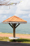 Pavilion near beach. Royalty Free Stock Photography
