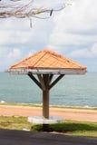 Pavilion near beach. Royalty Free Stock Photography