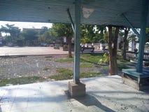 The pavilion next to the monk Royalty Free Stock Photos