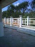 The pavilion next to the monk Stock Photo
