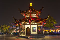 The pavilion at night in Confucian Temple Royalty Free Stock Images