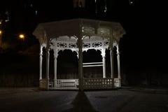 Pavilion at night in Karlovy Vary stock photo