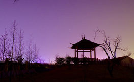 Pavilion. The pavilion in the night is very bautiful Stock Image