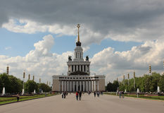Pavilion number 1 `Central` `The House of Peoples of Russia` at VDNKh VVC Stock Image