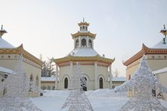 The pavilion-Observatory of the Chinese village in Tsarskoye Selo Stock Photos