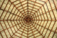 Pavilion octagon roof. The design of pavilion octagon roof Stock Photos