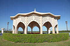 Pavilion at the old corniche in Abu Dhabi Royalty Free Stock Image