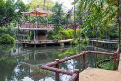 The pavilion in Orchid Garden 3 Stock Photo