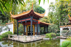 The pavilion in Orchid Garden Royalty Free Stock Image