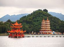 Pavilion and Pagodas at Royalty Free Stock Photos