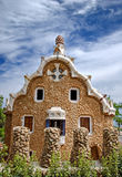 Pavilion in Parc Güell Barcelona, Spain Royalty Free Stock Photography