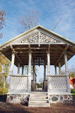 Pavilion in park at autumn. Royalty Free Stock Photos