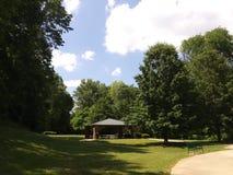 Pavilion at park stock images