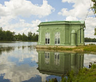 Pavilion in park in Gatchina, Russia Stock Images