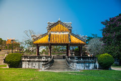 Pavilion in parks of citadel, Hue Royalty Free Stock Photos