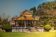 Pavilion in parks of citadel in Hue Stock Image