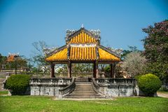 Pavilion in parks of citadel in Hue Royalty Free Stock Image