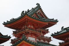 Pavilion. This Pavilion of temple  is an classic architecture in japan Stock Images