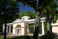 Pavilion in Pavlovsk park Stock Images