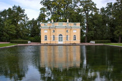 Pavilion by the pond Royalty Free Stock Photo