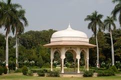 Pavilion, Public Gardens, Hyderabad. Elegant Mogul style pavilion in the Public Gardens, Hyderabad, India royalty free stock photos