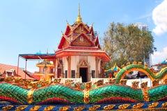 Pavilion in Pulau Tikus, Georgetown, Penang island, Malaysia. Pavilion in Pulau Tikus, thai Buddhist temple Wat Chayamangkalaram, Georgetown, Penang island stock photos