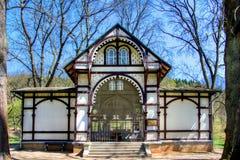 Pavilion of Rudolf spring - Marianske Lazne - Czech Republic Stock Photo