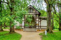 Pavilion of Rudolf spring - Marianske Lazne - Czech Republic Royalty Free Stock Image