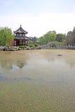 Pavilion, scenery beautiful pond, Chinese traditional architectu Royalty Free Stock Image