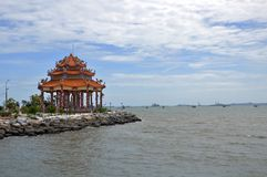 Pavilion in the sea Royalty Free Stock Photo