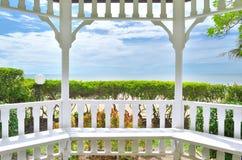 Pavilion and sea Royalty Free Stock Photos
