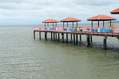 Pavilion on sea Stock Photography