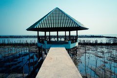 The Pavilion on seas. Pavillion over blue sea at thailand Stock Images