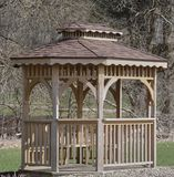Pavilion/Shelter in local metro park Stock Image