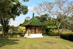 Pavilion in Singapore Chinese Garden Royalty Free Stock Photography
