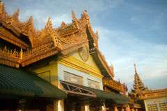 The Pavilion on Soon U Pone Nya Shin Pagoda,Myanma Royalty Free Stock Photos