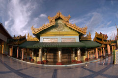 The Pavilion on Soon U Pone Nya Shin Pagoda,Myanma Stock Photos