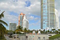Pavilion, South Pointe Park, South Beach, Florida Stock Photos