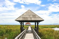 The Pavilion In Southern Thailand. The beautiful pavilion at the national park in Southern Thailand Stock Photos