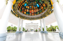 Pavilion with stained glass Stock Photography