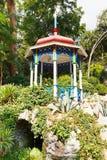 Pavilion on stones in Nikitsky Botanical Garden Stock Photos