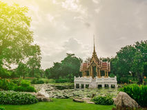 Pavilion In Suan Luang Rama 9 Of Thailand, sunlight effect filter Royalty Free Stock Image