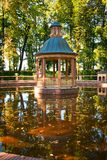 Pavilion in Summer Garden of St.Petersburg Stock Photography