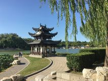 Pavilion in China stock photos