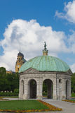 Pavilion the Temple of Diana. In the center is the pavilion Hofgarten Temple of Diana Munich Germany Stock Image