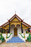 Pavilion temple in Laos. Pavilion of temple With old wood in Laos Stock Image