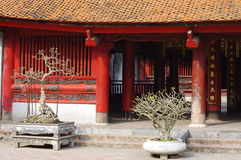 Pavilion at Temple of Literature Stock Image