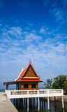 Pavilion at the temple. Pavilion at the Thai temple in sea Stock Photography