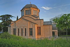 Pavilion on the territory of Holy Trinity Cathedral of Tbilisi Royalty Free Stock Images