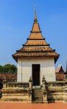 Pavilion of thai style at Ayutthaya historical park Royalty Free Stock Image